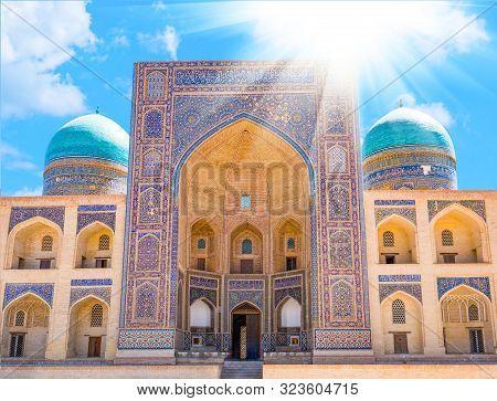 Mir-i Arab Madrassah. A View Of Miri Arab Madrasah In Bukhara, Uzbekistan