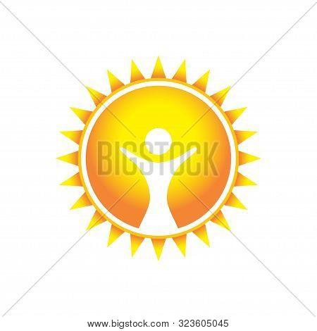 Glorious Wonder Sun Vector Symbol Graphic Logo Design Template