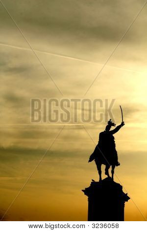 Knight Fighting Against The Sky