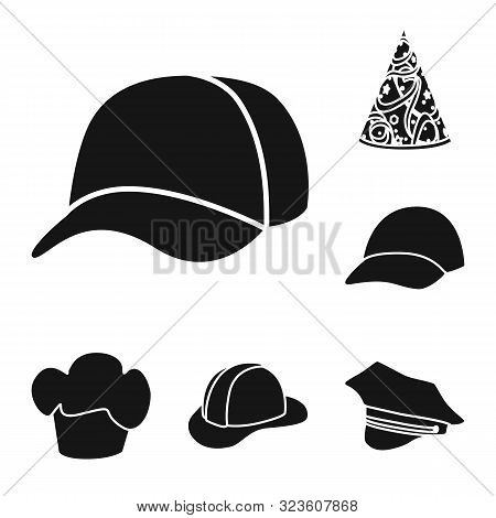 Vector Design Of Beanie And Beret Logo. Collection Of Beanie And Napper Stock Symbol For Web.