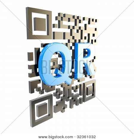 QR code technology illustration isolated