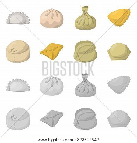 Isolated Object Of Products And Cooking Icon. Set Of Products And Appetizer Vector Icon For Stock.