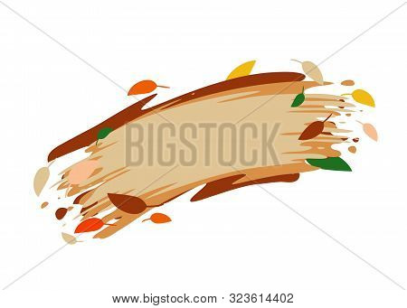 Autumn Banner With Autumn Leaves. Isolated Vector Image.eps 10