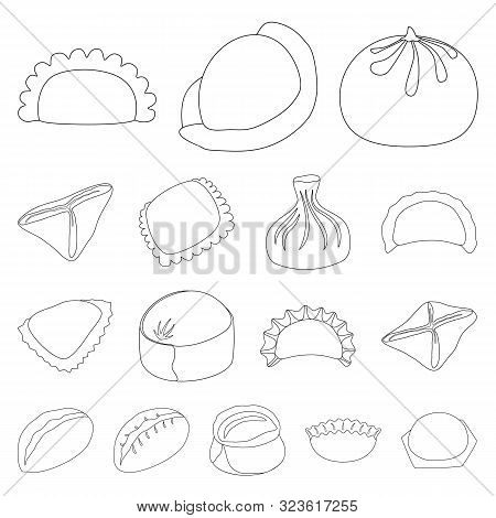 Isolated Object Of Food And Dish Logo. Collection Of Food And Cooking Stock Symbol For Web.