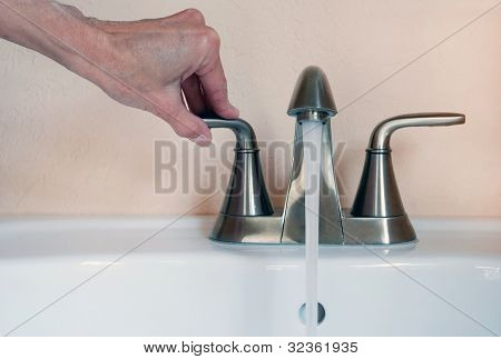 Turning On Faucet