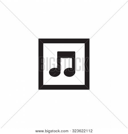 Music Icon. Musical Notes Icon Isolated On White Background From Music Collection. Musical Notes Ico