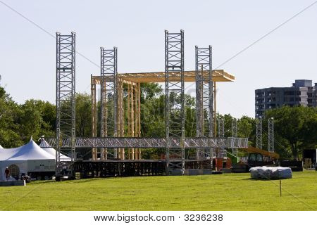 Building Stage For The Show