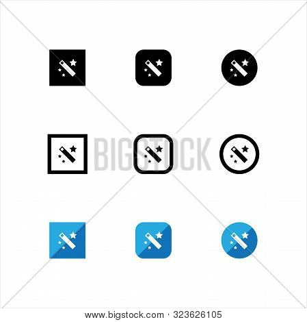 Magic. Magic Icon. Magic Wand Tool. Magic App Icon. Magic Wand Icon. Magic Sign Vector. Magic Symbol