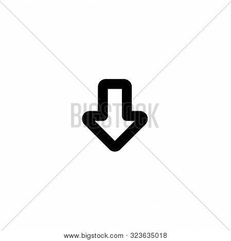 Arrow Icon. Download Icon. Down Arrow Icon. Down Icon. Down Arrow Vector Icon. Down Arrow Isolated I