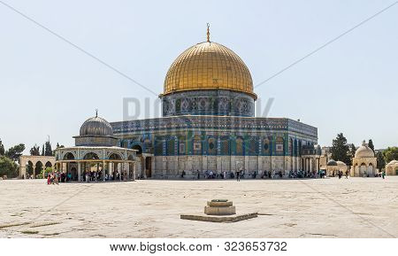 Jerusalem, Israel, September 07, 2019 : The Dom Of The Chain And The Dome Of The Rock Building On Th