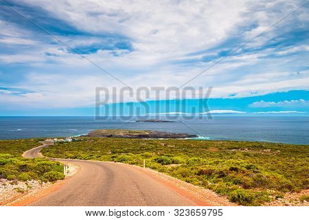 Cape Du Couedic Road Viewed Towards Admirals Arch Lookout, Flinders Chase, Kangaroo Island, South Au