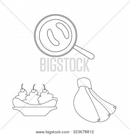 Isolated Object Of Organic And Potassium Sign. Set Of Organic And Diet Stock Symbol For Web.