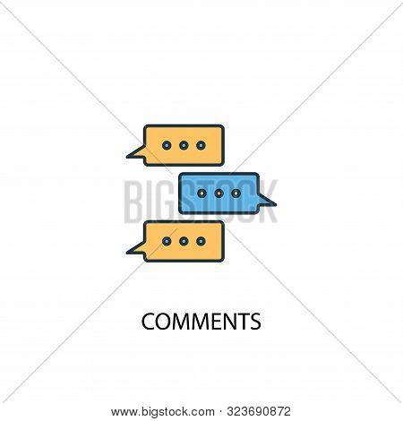 Comments Concept 2 Colored Icon. Simple Blue Element Illustration. Comments Concept Symbol Design. C