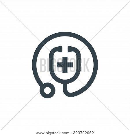 Medic Stethoscope Concept Logotype Template Design. Business Logo Icon Shape. Medic Stethoscope Simp