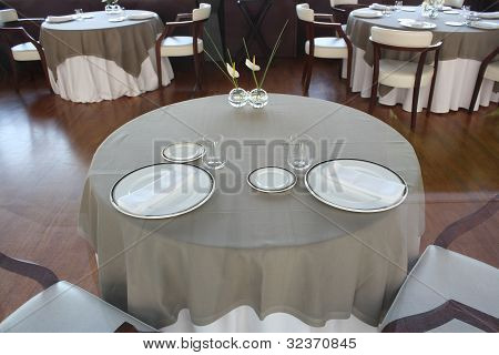 A table for a wedding ceremony