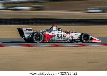 September 21, 2019 - Salinas, California, USA: MARCO Andretti (98) of the United States  practices for the Firestone Grand Prix of Monterey at Weathertech Raceway Laguna Seca in Salinas, California.