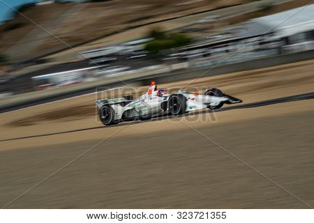 September 21, 2019 - Salinas, California, USA: COLTON HERTA (88) (R) of The United States  practices for the Firestone Grand Prix of Monterey at Weathertech Raceway Laguna Seca in Salinas, California.