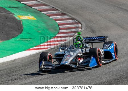 September 20, 2019 - Salinas, California, USA: CONOR DALY (25) of The United States  practices for the Firestone Grand Prix of Monterey at Weathertech Raceway Laguna Seca in Salinas, California.