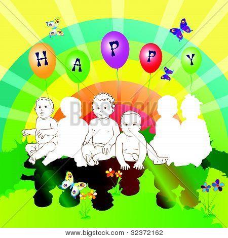happy friends kids