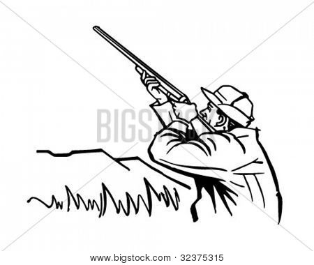 Duck Hunter - Retro Clipart Illustration