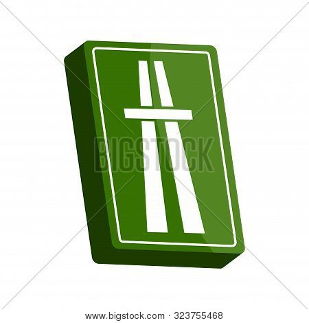 Isolated 3d Traffic Signal. Start Of A Motorway Sign - Vector
