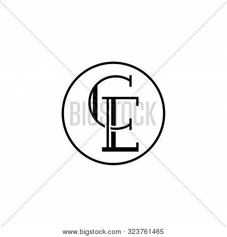 Creative Modern Elegant Trendy Unique Artistic Ce Initial Based Letter Icon Logo, Ce Letter Vector L