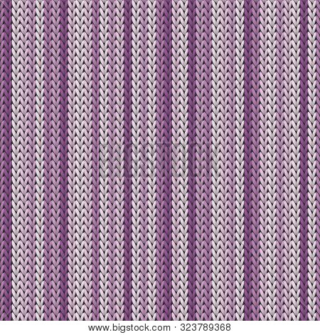 Cotton Vertical Stripes Christmas Knit Geometric Seamless Pattern. Ugly Sweater Knitwear Structure I