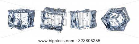 Isolated Ice Cube, Cold Freeze Shiny Object