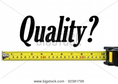 Quality Control And Measurement Concept