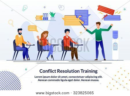 Bright Flyer Written Conflict Resolution Training. Banner Training Courses Offer Professional Traini