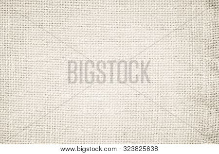 Cream Pastel Texture Background. Haircloth Or Blanket Wale Linen Canvas Wallpaper. Rustic Canvas Fab
