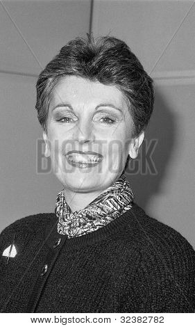 LONDON - DECEMBER 12: Jacqueline Foster, Conservative party Parliamentary Candidate for Newham South, attends a photo call on December 12, 1990 in London. She is now M.E.P. for North West England.