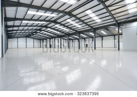 View Of A Large Empty Warehouse Unit