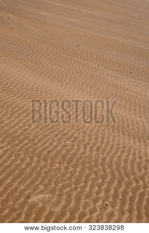A View Of Rippled Beach Sand Close Up Without A Horizon