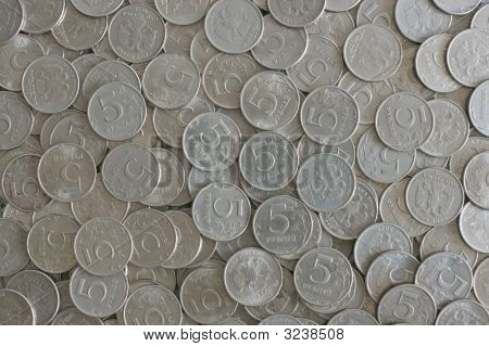 Five Rubles Coins Texture