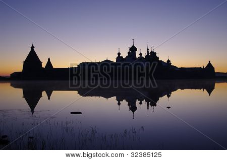 View Of Monastery On Solovetsky Islands.