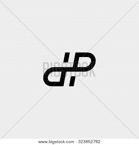 Letter Dp Pd Dhp Logo Design Simple Vector