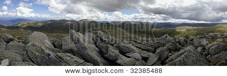 View From Mount Kosciuszko In The Snowy Mountains, New South Wales, Australia.