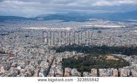 Amazing Panoramic View Of The City Of Athens From Lycabettus Hill, Attica, Greece