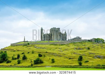 The Rock Of Cashel. Irish Cashel Of The Kings And St. Patricks Rock, A Historic Site Located At Cash