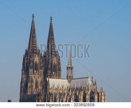 Koelner Dom Hohe Domkirche Sankt Petrus (meaning St Peter Cathedral) gothic church in Koeln, Germany poster