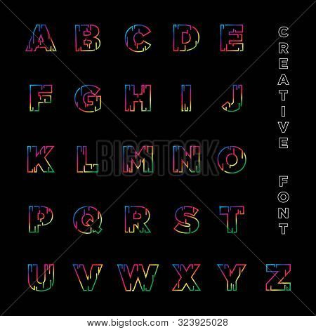 Creative Abstract Modern Font Design For Logo, Title, Header, Lettering And More-vector