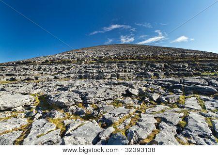 Scenery of Burren in Co. Clare, Ireland