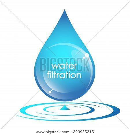 Pure Drop Of Water Symbol Of Filtration