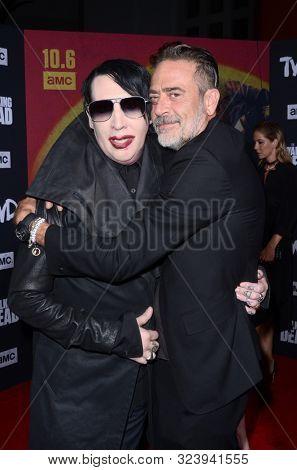 LOS ANGELES - SEP 23:  Marilyn Manson, Jeffrey Dean Morgan at the