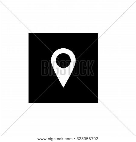 Location Icon Pin Isolated On White Background