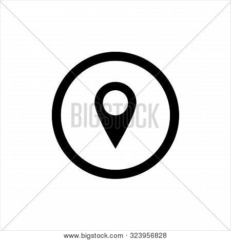 Pin Map Icon Symbol Vector Illustration. Location Pin Icon Vector On White Background. Navigation Pi