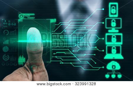 Fingerprint Biometric Digital Scan Technology.