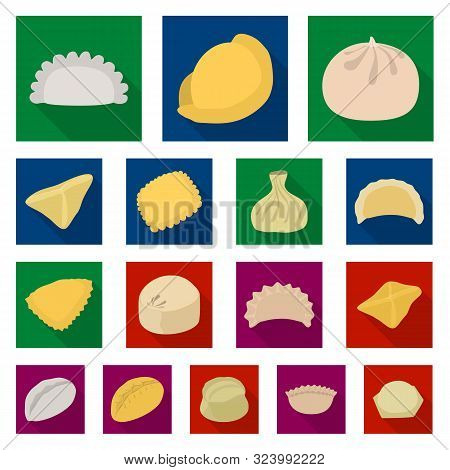 Vector Illustration Of Products And Cooking Sign. Collection Of Products And Appetizer Stock Vector