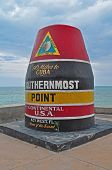 The marker in Key West marks the Southernmost point in Key West and US. poster